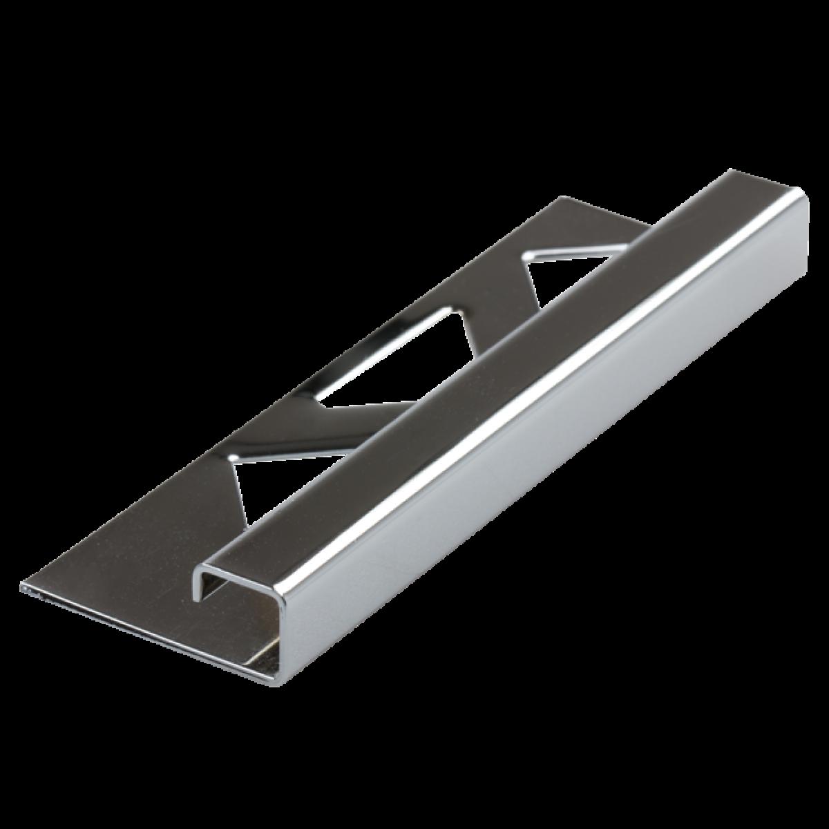Edelstahl-Fliesenschiene FEQ-S/BC 100 à 2,50 m verchromt - Quadratisch