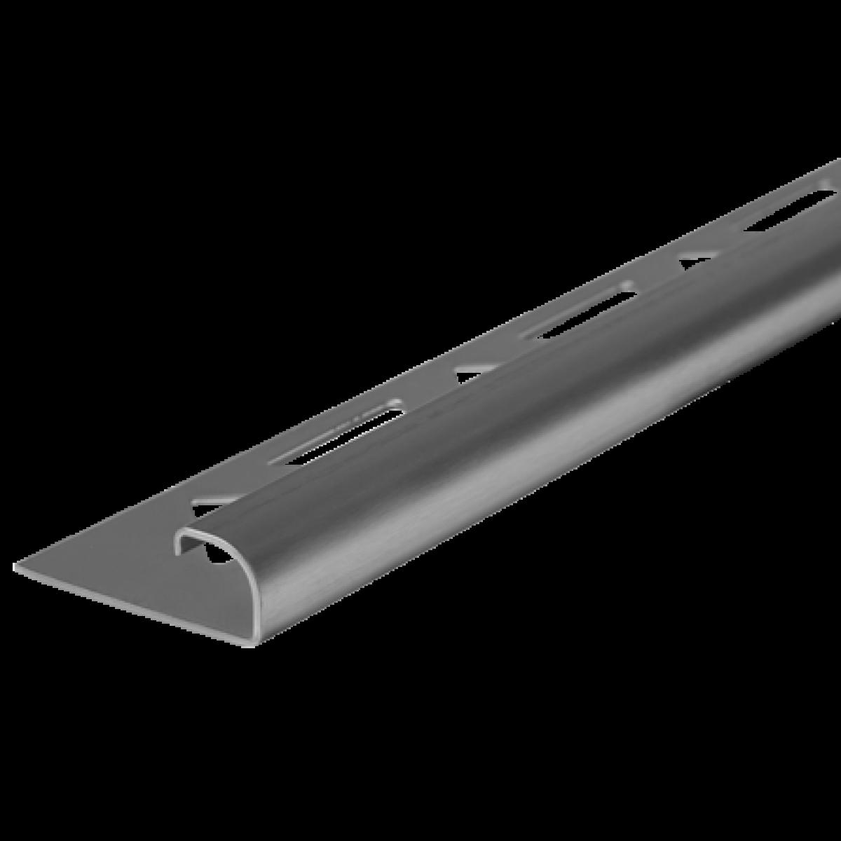 Edelstahl-Fliesenschiene GEBÜRSTET FER-S/G 100 à 2,50 m  >>V4A<<