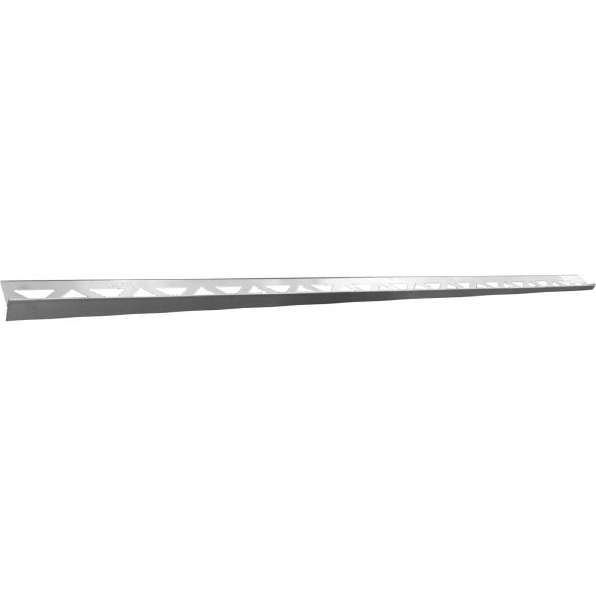 Edelstahl-Duschprofil mit Gefälle RECHTS FE-DP 200-11-40  -  11 mm / 200 cm Länge