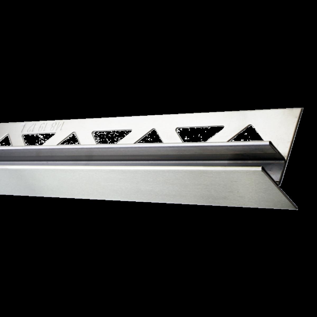 Edelstahl-Duschprofil mit Glasaufnahme FE-DP/G120-19-12-L Höhe: 37 mm