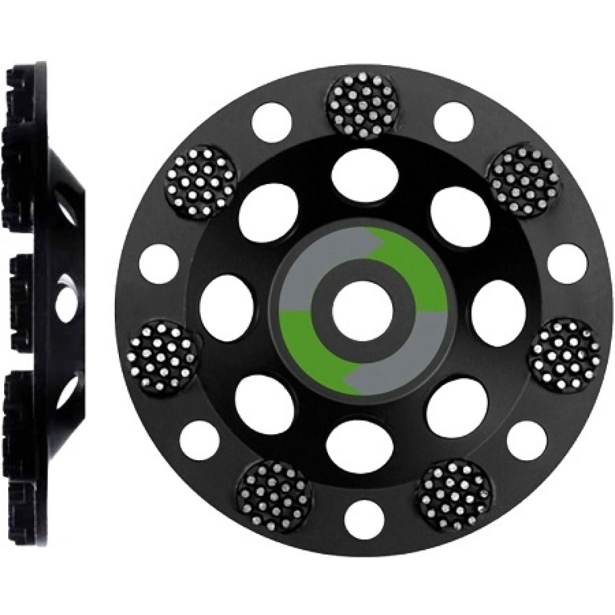 Premium Schleifteller RR GROB  180 mm Schleiftopf - zum Schleifen von Beton und Stein -