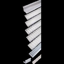 Rinklake Drainagerinne H-ST 1000 mm 100 mm Einlaufbreite 100 bis 160 mm Höhenverstellung