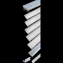 Rinklake Drainagerinne Stelz-ST 1000 mm 100 mm Breite - 85 bis 110 mm Höhenverstellung