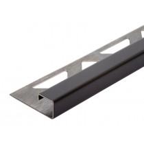 Edelstahl-Fliesenschiene - Style FEQ-S 100 SG à 2,70 m - schwarz geb.