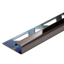 Edelstahl-Fliesenschiene - Style FEQ-S 100 SP à 2,70 m - schwarz glanz