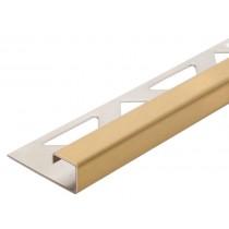 Edelstahl-Fliesenschiene - Style FEQ-S 100 GG  à 2,70 m - gold geb.