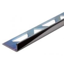 Edelstahl-Fliesenschiene - Style FE 100 SP à 2,70 m - SCHWARZ GLÄNZEND/POLIERT