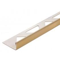 Edelstahl-Fliesenschiene - Style FE 110 GG à 2,70 m - GOLD GEBÜRSTET