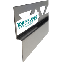 Edelstahl-Wandanschlußprofil mit Gefälle LINKS DPW 148-12-32 - 12,5 / 148 cm Länge