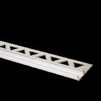 Edelstahl-Duschprofil    U-Profil 2,50 mtr FE-DP/U 250 - 12,5  Höhe:  12,5  mm