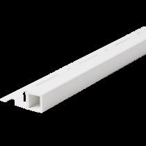 Kunststoff-Fliesenschiene FKQ 125 BW à 2,50 m - Quadratisch - BRILLANTWEIß