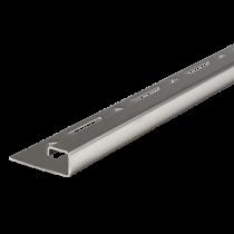 Edelstahl-Fliesenschiene FEQ-S 80 à 2,50 m - Quadratisch