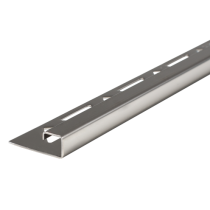 Edelstahl-Fliesenschiene FEQ-S 125 à 2,50 m - Quadratisch