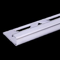 Edelstahl-Fliesenschiene FEQ-S 125 à 3,00 m - Quadratisch