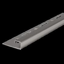 Edelstahl-Fliesenschiene FEQ-S/G 80 à 2,50 m GEBÜRSTET - Quadratisch