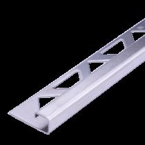 Edelstahl-Fliesenschiene FEQ-S/G 80 à 3,00 m GEBÜRSTET - Quadratisch
