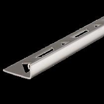 Edelstahl-Fliesenschiene FE 100 à 2,50 m  >>V4A