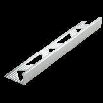 Aluminium-Fliesenschiene FA-BC/G 125 à 2,50 m - BRILLANTCHROM GEBÜRSTET