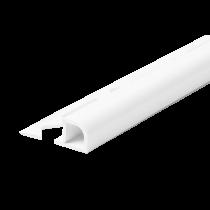 Kunststoff-Fliesenschiene FKR 60 BW à 2,50 m - gerundet - BRILLANTWEIß