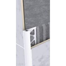 Aluminium-Fliesenschiene FAR 100 BW à 2,50 m - Viertelkreis -