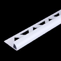 Aluminium-Fliesenschiene FAR 60 BW à 2,50 m - Viertelkreis - BRILLANTWEIß