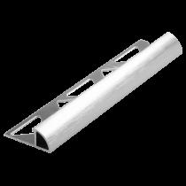 Aluminium-Fliesenschiene FAR-BC/G 80 à 2,50 m - Viertelkreis - BRILLANTCHROM GEBÜRSTET