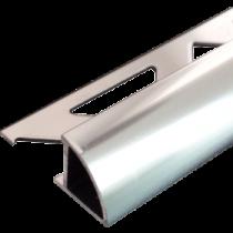 Aluminium-Fliesenschiene FAR-BC 100 à 2,50 m - Viertelkreis - BRILLANTCHROM