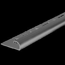 Edelstahl-Fliesenschiene FER-S/G 80 à 2,50 m - GEBÜRSTET