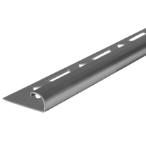 Edelstahl-Fliesenschiene GEBÜRSTET FER-S/G 100 à 2,50 m  >>V4A
