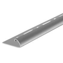 Edelstahl-Fliesenschiene FER-G 100 à 2,50 m - Viertelkreis - GEBÜRSTET