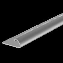 Edelstahl-Fliesenschiene FER-G 110 à 2,50 m - Viertelkreis - GEBÜRSTET