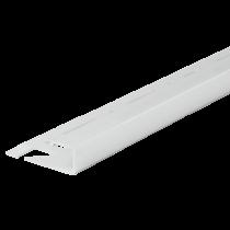 Aluminium-Fliesenschiene FAQ-BW 100 à 2,50 m - Quadratisch - BRILLANTWEIß
