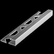 Aluminium-Fliesenschiene FAQ-BC 100 à 2,50 m - Quadratisch - BRILLANTCHROM