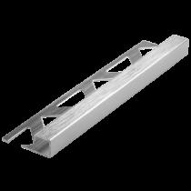 Aluminium-Fliesenschiene FAQ-BC/G 80 à 2,50 m  - Quadratisch - BRILLANTCHROM GEBÜRSTET