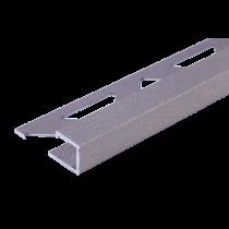 Aluminium-Fliesenschiene - Style FAQ-STG 125 à 2,50 m - STEINGRAU