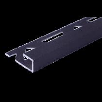 Aluminium-Fliesenschiene - Style FAQ-AZ 100 à 2,50 m - ANTHRAZIT
