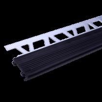 Aluminium-Treppenprofil TS-B30/ 80 à 2,70 m / schwarz