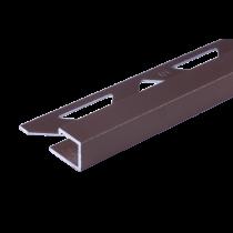 Aluminium-Fliesenschiene - Style FAQ-BG 125 à 2,50 m - BEIGEGRAU