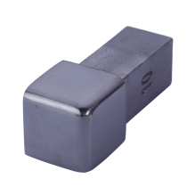 Außenecke FEQ-S 100 SP - Style Volledelstahl  -  schwarz glanz