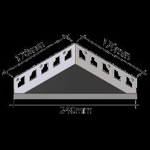 Duschablage - Dreieckform 170 x 170 x 240 mm