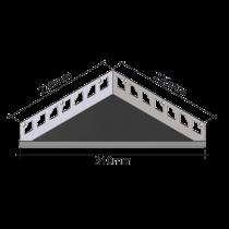 Duschablage - Dreieckform 220 x 220 x 310 mm