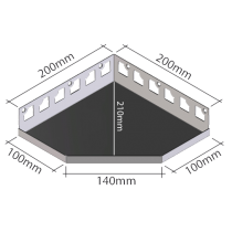 "Duschablage ""Fünfeckform"" 200 x 200 mm"