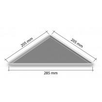 "Duschablage ""Dreieckform"" 205x205x285 mm (nachträgl. Einbau)"
