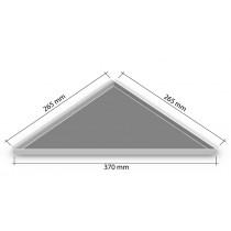 Duschablage - Dreieckform, nachträglicher Einbau 265 x 265 x 370 mm