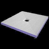 Duschelement 900x900x40 mm HBCD frei - Zentral -