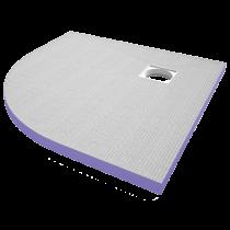 Duschelement-Viertelkreis 900x900 mm Ablaufmitte vom Rand 250/250 mm