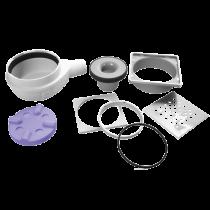 Ablaufgarnitur für Duschelemente waagerecht- SUPERFLACH 50 mm 0,9 I/s