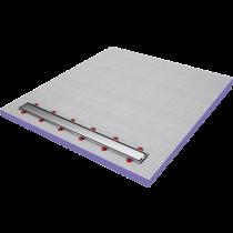 RINKLAKE Duschelement mit Rinne 1-seitiges Gefälle - HBCD frei 1400 x 1300 mm - Rinne 1150 mm