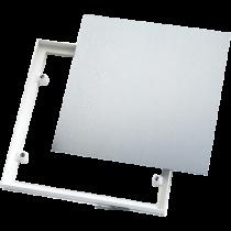 Magnet-Fliesenrahmen, mit verz. Platte (weiß) 400 x 500 mm