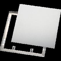Magnet-Fliesenrahmen aus Edelstahl, mit verz. Platte 200 x 250 mm, mit festen Magneten